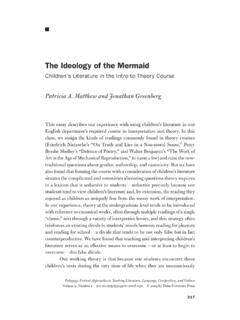 The Ideology of the Mermaid - Montclair State University