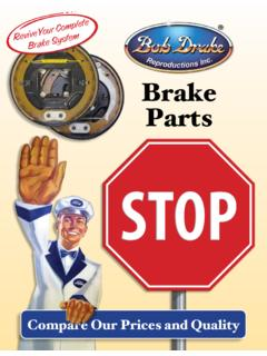 Brake Parts Revi - Bob Drake Reproductions
