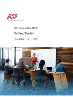 Working with RUN Powered by ADP®