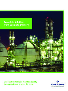 Complete Solutions from Design to Delivery - Emerson