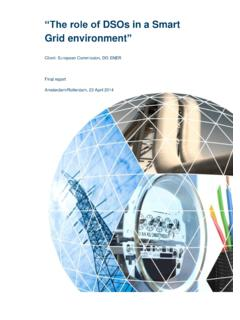 The role of DSOs in Smart Grids - European Commission