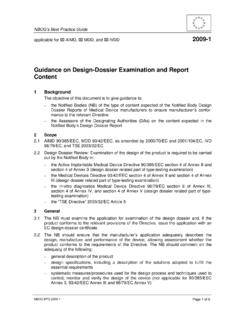Guidance on Design-Dossier Examination and Report …
