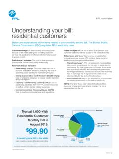 Understanding your bill: residential customers - FPL