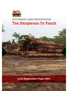 CUSTOMARY LAND REGISTRATION: Too Dangerous To …