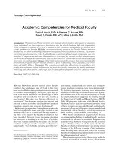 Academic Competencies for Medical Faculty - STFM
