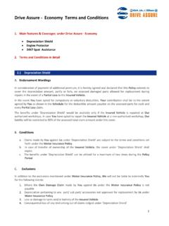 Account assure terms and conditions