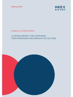 CONSULTATION PAPER A LISTING REGIME FOR COMPANIES …