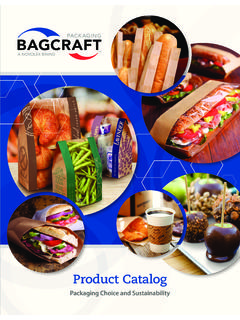 Packaging Choice and Sustainability - Bagcraft