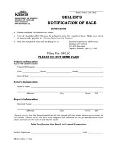 TR-216 Seller's Notification of Sale