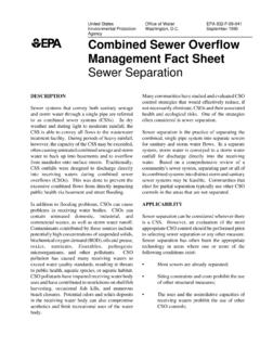 Combined Sewer Overflow Management Fact Sheet: Sewer ...