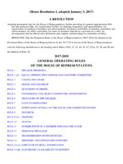 2017-2018 GENERAL OPERATING RULES OF THE HOUSE OF ...