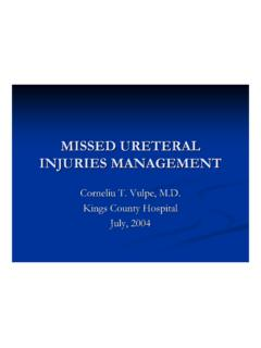MISSED URETERAL INJURIES MANAGEMENT