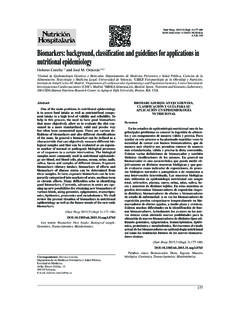 Biomarkers: background, classification and guidelines for ...