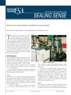 What are the current emission standards for valve …