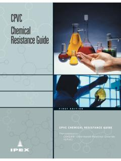 CPVC Chemical Resistance Guide - ipexna.com