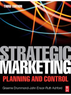 Strategic Marketing: Planning and Control, Third Edition