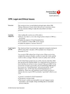 CPR - Legal and Ethical Issues - Life 1st
