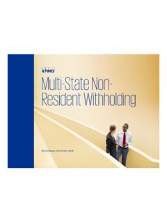 Multi-State Non- Resident Withholding