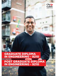 GRADUATE DIPLOMA IN ENGINEERING - City and Guilds
