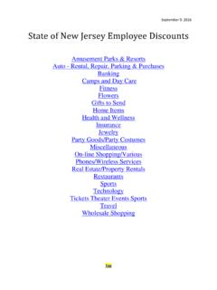 State of New Jersey Employee Discounts