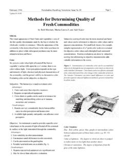 Methods for Determining Quality of Fresh Commodities