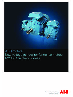 ABB motors Low voltage general performance motors …