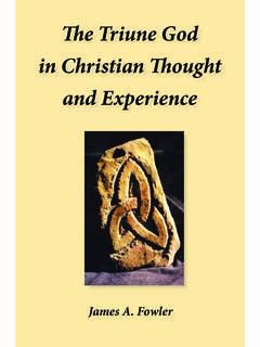 The Triune God in Christian Thought and Experience