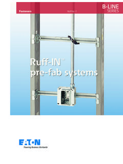 Ruff-IN pre-fab systems - Cooper Industries