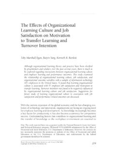 The effects of organizational learning culture and job ...