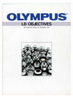 Olympus LB Objective Series for Biological Use - Alan Wood