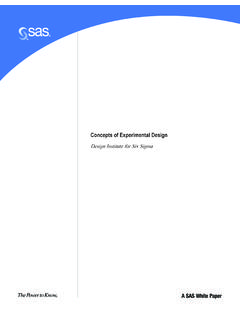 CONCEPTS OF EXPERIMENTAL DESIGN 081005 - SAS Support