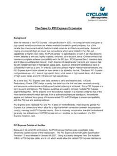 The Case for PCI Express Expansion - Cyclone …
