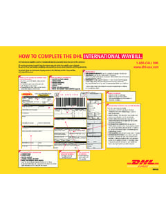 HOW TO COMPLETE THE DHL INTERNATIONAL …