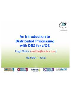 An Introduction to Distributed Processing with DB2 for z/OS