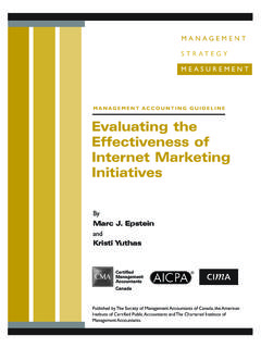 Evaluating the Effectiveness of Internet Marketing Initiatives