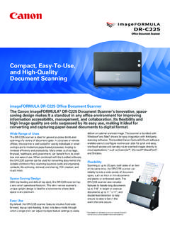 Compact, Easy-To-Use, and High-Quality Document Scanning