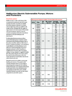 Halliburton Electric Submersible Pumps, Motors …