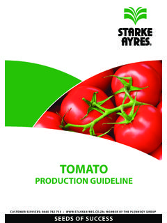 Tomato Production Guideline 2014 - Starke Ayres