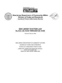 New Jersey Department of Community Affairs …