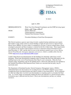 Special Flood Hazards; Interagency Questions and …