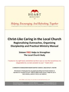 Christ-Like Caring in the Local Church