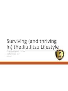 Surviving (and thriving the Jiu JitsuLifestyle