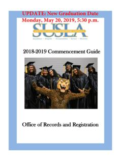 UPDATE: New Graduation Date Monday, May 20, 2019, 5:30 …