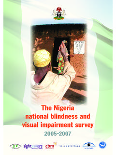 The Nigeria national blindness and visual impairment survey