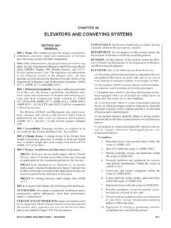 CHAPTER 30 ELEVATORS AND CONVEYING SYSTEMS