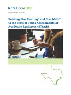 Relating Star Reading and Star Math to the State of …