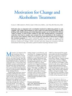 Motivation for Change and Alcoholism Treatment