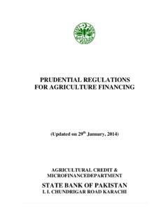 PRUDENTIAL REGULATIONS FOR AGRICULTURE FINANCING  …