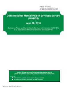 2018 National Mental Health Services Survey