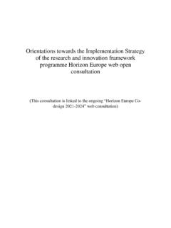 Orientations towards the Implementation Strategy of the ...